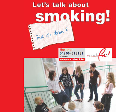 Broschüre 'Let's talk about smoking'