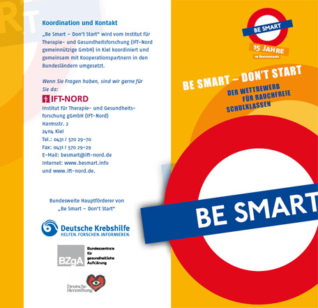 Be Smart - Don't Start: Flyer 15 Jahre